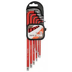 Набор Ключей Torx 9 шт 1000В TAMPERPROOF Т10-Т50 CrV YATO YT-0563
