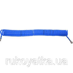 Спиральный Шланг(8.0х12мм/15м)с Быстросъемами Для Сжатого Воздуха(Компрессора)YATO YT-24209