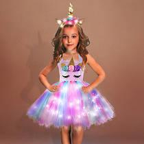 Платье принцессы с единорогом на утренник