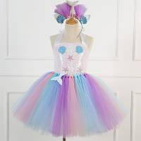 Карнавальное платье морской принцессы с пайетками, фото 1