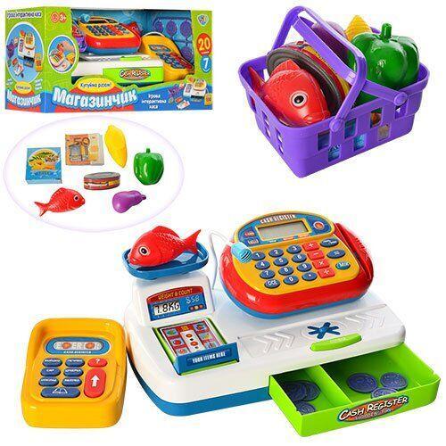 Кассовый аппарат музыкальная игрушка касса супермаркет Limo Toy 7019