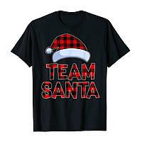 """Футболка з новорічним принтом """"Team santa"""" Push IT"""