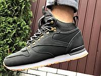 Зимові теплі черевики в стилі Reebok сірі, фото 1