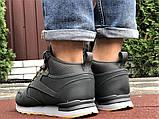 Зимние теплые ботинки в стиле Reebok серые, фото 5
