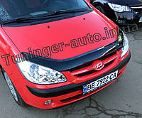 Мухобойка, дефлектор капота Hyundai Getz 2006-2010 (ANV), фото 1