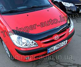 Мухобойка, дефлектор капота Hyundai Getz 2006-2010 (ANV)