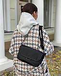 Женская кожаная сумка черная polina&eiterou, фото 2