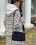 Женская кожаная сумка черная polina&eiterou, фото 5