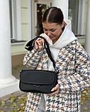 Женская кожаная сумка черная polina&eiterou, фото 6