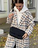 Женская кожаная сумка черная polina&eiterou, фото 4