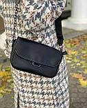 Женская кожаная сумка черная polina&eiterou, фото 3