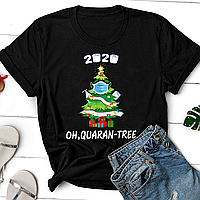 """Футболка з новорічним принтом """"2020 Oh, quaran-tree"""" Push IT"""