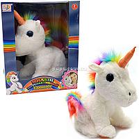 Мягкая игрушка интерактивный Пони единорог, 29 см, аудио, песни, запись звуков (JD-R9902C)