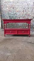 Тумба красная с выдвижными ящиками в стиле loft (лофт), Металлическая мебель в стиле LOFT