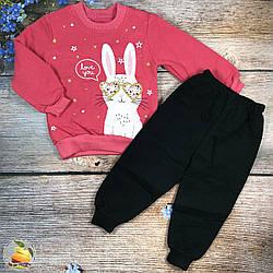 """Тёплый костюм  """"Зайчик"""" для девочки Размеры: 2,3,4,5 лет (01205)"""