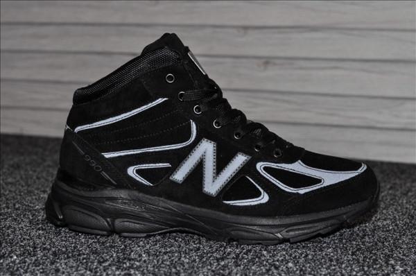 Мужские зимние кроссовки New Balance 990 Black Reflective Winter