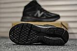 Мужские зимние кроссовки New Balance 990 Black Reflective Winter, фото 2