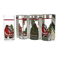 Набор стаканов Uniglass Classico Santa & Xmas Tree 270 мл 6 шт. высокие