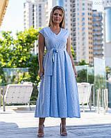 Светлое летнее платье Павия (голубой) 48
