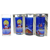 Набор стаканов Uniglass Classico Santa & Rudolf/1 270 мл 6 шт. высокие