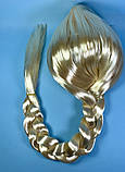 Карнавальный парик Коса Эльзы блонд 80 см, фото 2