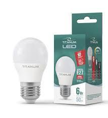 LED лампа TITANUM G45 6W E27 4100K 220V