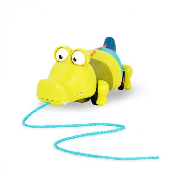 Іграшка-Каталка На Мотузочці - Крокодил Клац-Клаус Battat BX1674Z