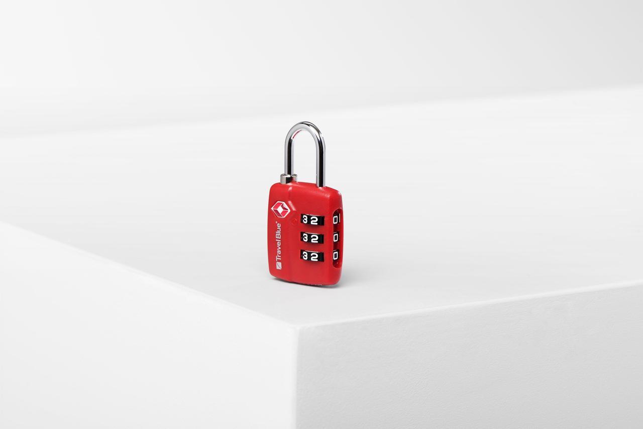 Замок навесной для багажа Travel Blue TSA Красный (036R)