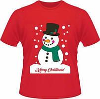 """Футболка з новорічним принтом """"Сніговик: Merry christmas"""" Push IT"""
