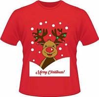 """Футболка з новорічним принтом """"Олень: Merry christmas"""" Push IT"""