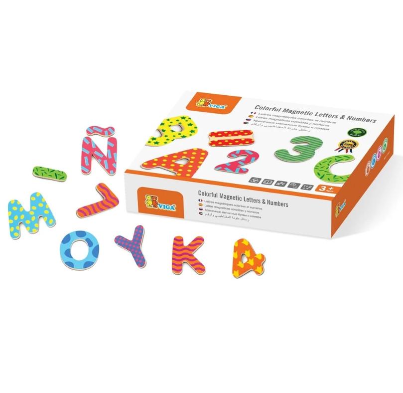 Набор магнитных букв и цифр Viga Toys 59429
