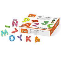 Набор магнитных букв и цифр Viga Toys 59429, фото 1