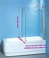 Штора на ванну SunLight 7047 у стекло 70х70х140 см Прозрачный, КОД: 1370977
