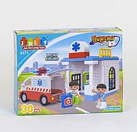 """Конструктор JDLT 5171 (24/2) """"Пункт Скорой Помощи"""" 30 дет, большой конструктор для малышей,развивающая игрушка"""