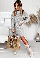 Жіночий в'язаний шерстяний светр,білий.Виробництво Туреччина.BG 1020