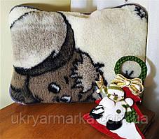 Декоративна подушка з овчини