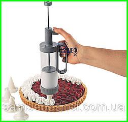 Кондитерський шприц для прикраси десертів з насадками Family Kitchen
