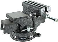 Тиски слесарные Polax настольные поворотные 150 мм 25-101, КОД: 2314299