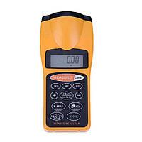 Ультразвуковой дальномер с лазерной указкой Оранжевый R0448, КОД: 1578435