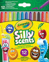 Выкручивающиеся восковые мелки Crayola Silly Scents 12 шт 52-9712, КОД: 2443960