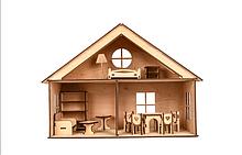 Подарочный кукольный домик из дерева, подарок на день Святого Николая, подарок детский на Новый год, домик