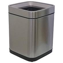 Ведро для мусора без крышки с внутренним ведром JAH 15 л Серебряный металлик, КОД: 1919089
