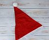 Шапка Деда-Мороза колпак новогодний 29*40 см  Только по 12 штук