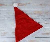 Шапка Деда-Мороза колпак новогодний 29*40 см  Только по 12 штук, фото 1