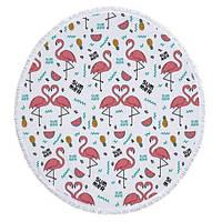 Пляжный коврик Summer Flamingo Розовый (kj123288)