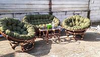 Комплект мебели Папасан CRUZO Софа, 2 кресла, столик Орех d0420, КОД: 2351027