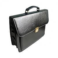 Портфель для документов Дорожка 30х40х12 см Black 7201, КОД: 1890141