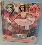 Детская Кукла Emily в розовом платье с букетом и аксессуарами, шарнирная с собачкой QJ077A, фото 2