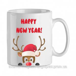 """Чашка з принтом """"Happy New Year"""""""