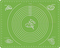 Силиконовый антипригарный коврик для выпечки и раскатки теста 50x40 см 2Life Зеленый n-332, КОД: 1624115